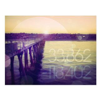 Playa de Hermosa, California Tarjeta Postal
