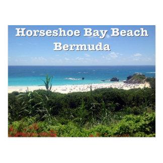 Playa de herradura de la bahía, Bermudas Tarjetas Postales