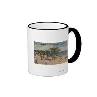Playa de Hollywood, la Florida - vista de la playa Taza De Café