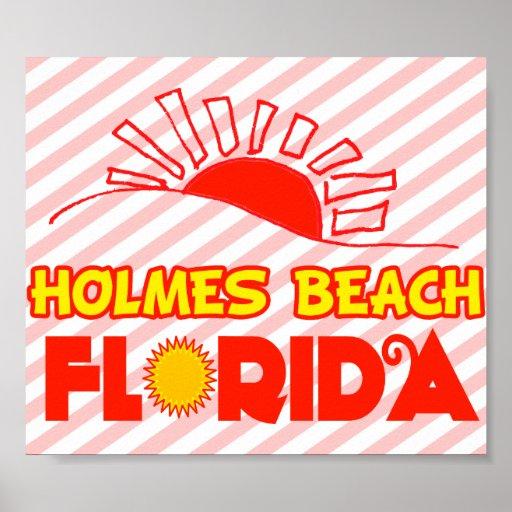 Playa de Holmes, la Florida Posters