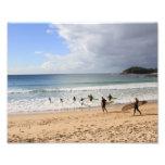 Playa de hombres impresión fotográfica