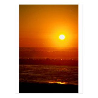 Playa de Horsfall de la puesta del sol del otoño,  Postales