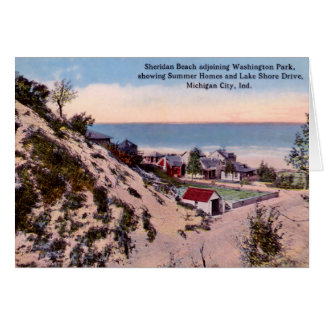 Playa de Indiana Sheridan de la ciudad de Michigan Tarjeta De Felicitación