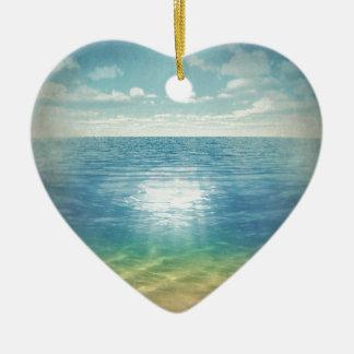 Playa de Insta Adorno Navideño De Cerámica En Forma De Corazón
