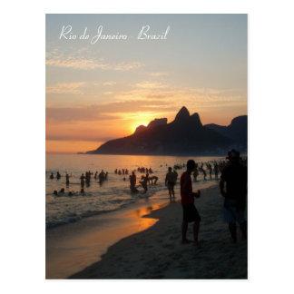 Playa de Ipanema, Río de Janeiro, el Brasil Tarjeta Postal