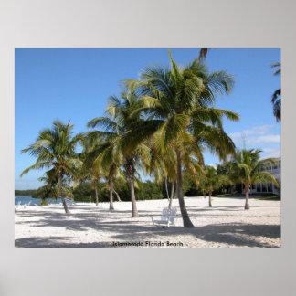 Playa de Islamorada la Florida Póster