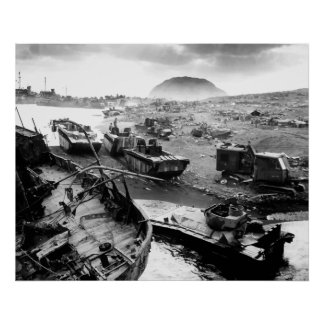 Playa de Iwo Jima Poster