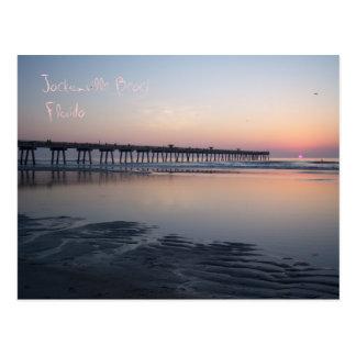 Playa de Jacksonville, la Florida - salida del sol Postales