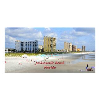 Playa de Jacksonville, la Florida Tarjetas Fotográficas Personalizadas