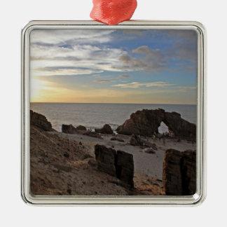 Playa de Jericoacoara Adorno Cuadrado Plateado