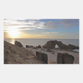 Playa de Jericoacoara Pegatina Rectangular