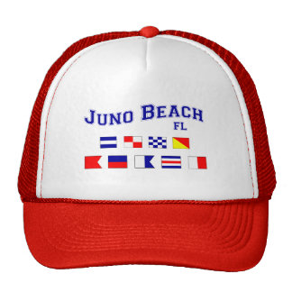 Playa de Juno, FL - deletreo náutico de la bandera Gorra