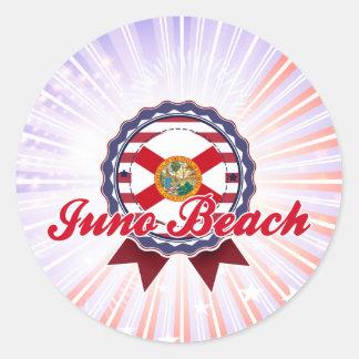 Playa de Juno, FL Pegatina Redonda
