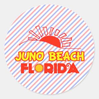 Playa de Juno, la Florida Pegatina Redonda