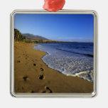 Playa de Kaanapali, Maui, Hawaii, los E.E.U.U. Adorno Navideño Cuadrado De Metal