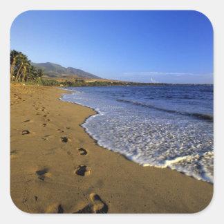 Playa de Kaanapali, Maui, Hawaii, los E.E.U.U. Calcomanía Cuadradas Personalizadas