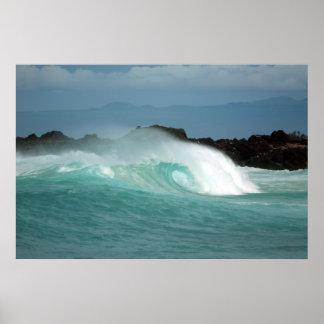 Playa de Kekaha Kai Posters