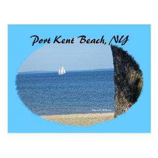Playa de Kent del puerto, NY Postales