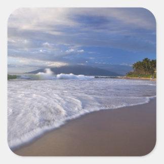 Playa de Kihei, Maui, Hawaii, los E.E.U.U. Pegatina Cuadrada