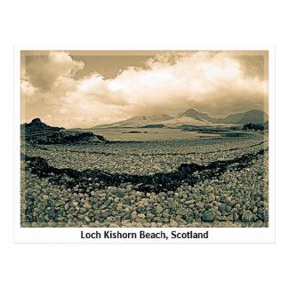 Playa de Kishorn del lago, postal de Escocia (sepi