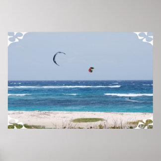 Playa de Kitesurfing Posters