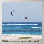 Playa de Kitesurfing Poster