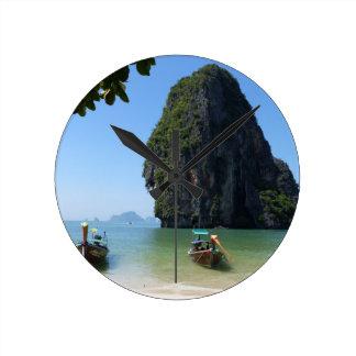Playa de Krabi, Tailandia Reloj Redondo Mediano