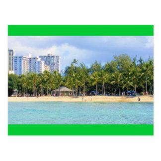 Playa de Kuhio en Waikiki, Oahu, Hawaii Postal