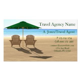 Playa de la agencia de viajes tarjetas de visita