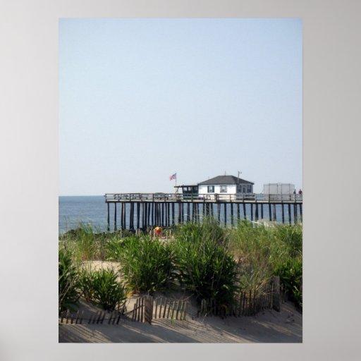 Playa de la arboleda NJ del océano Póster