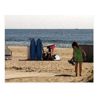 Playa de la arboleda NJ del océano - tableros de Tarjeta Postal