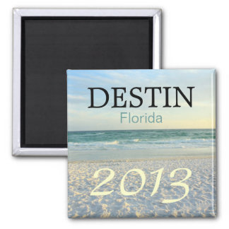 Playa de la arena del azúcar de Destin la Florida  Imán Cuadrado
