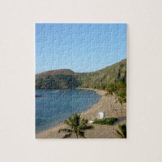 Playa de la bahía de Hanauma Puzzle Con Fotos