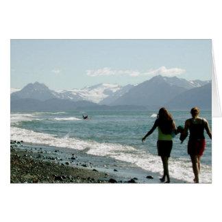 Playa de la bahía de Kachemak Tarjeta De Felicitación