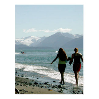 Playa de la bahía de Kachemak Tarjetas Postales