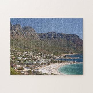 Playa de la bahía de los campos y doce apóstoles rompecabezas con fotos
