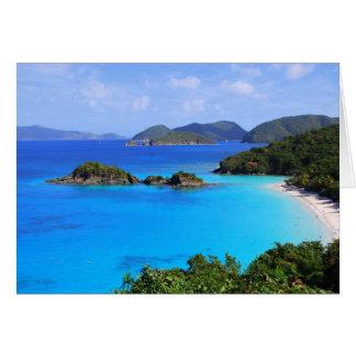 Playa de la bahía del canela, St. John, Islas Tarjeta De Felicitación