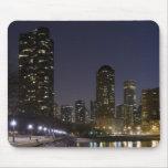 Playa de la calle de Ohio en Chicago céntrica en l Mouse Pad