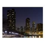 Playa de la calle de Ohio en Chicago céntrica en Tarjetas Postales