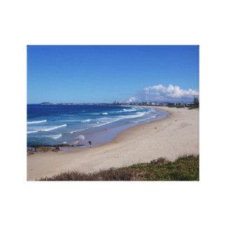 Playa de la ciudad, Wollongong, Australia Lona Estirada Galerias