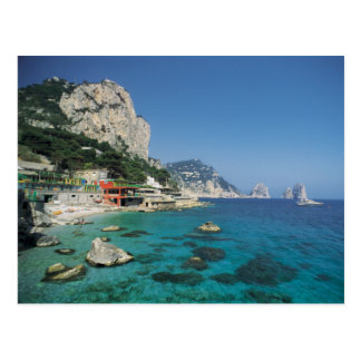 Playa de la costa de mar Mediterráneo de Italia Postales