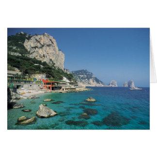 Playa de la costa de mar Mediterráneo de Italia Tarjeta
