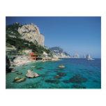 Playa de la costa de mar Mediterráneo de Italia Tarjeta Postal