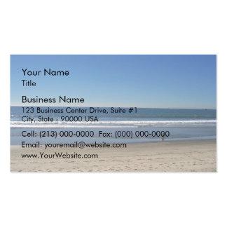 Playa de la costa tarjetas de visita