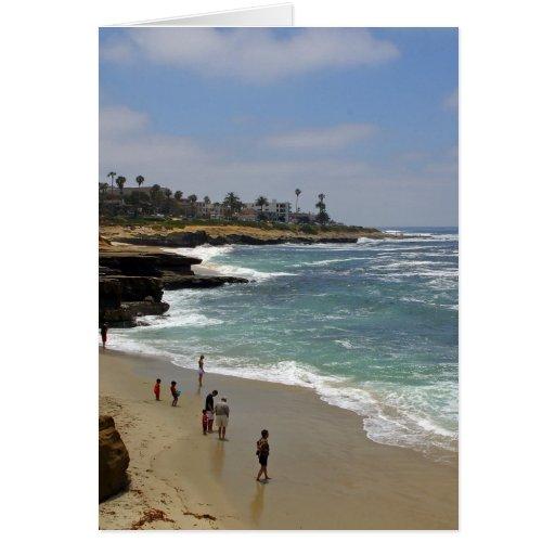 Playa de la ensenada de La Jolla Felicitacion