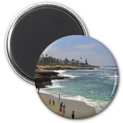 Playa de la ensenada de La Jolla Iman De Frigorífico