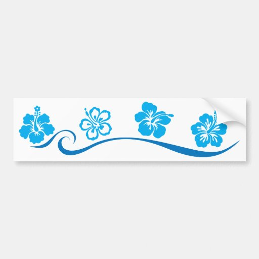 Playa de la flor etiqueta de parachoque