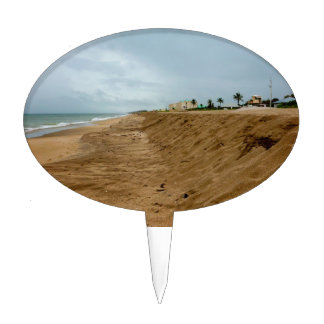 Playa de la Florida al sur vacía antes de tormenta Figura De Tarta