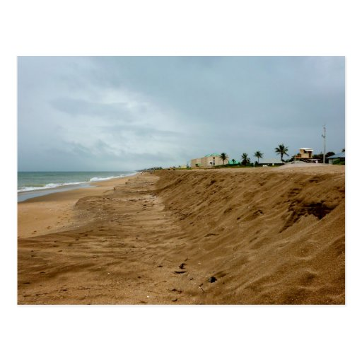 Playa de la Florida al sur vacía antes de tormenta Tarjetas Postales