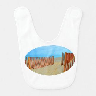 playa de la Florida con la cerca colorida Babero Para Bebé